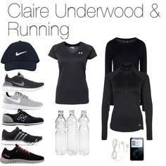Claire Underwood & Running by oliviapope411 on Polyvore featuring polyvore, fashion, style, Under Armour, Reebok, NIKE and New Balance