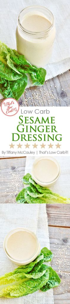If delicious dressing is your vice when it comes to healthy, low carb eating, then this Low Carb Sesame Ginger Dressing is the perfect excuse to dig in and have a salad for dinner! ~ www.ThatsLowCarb.com