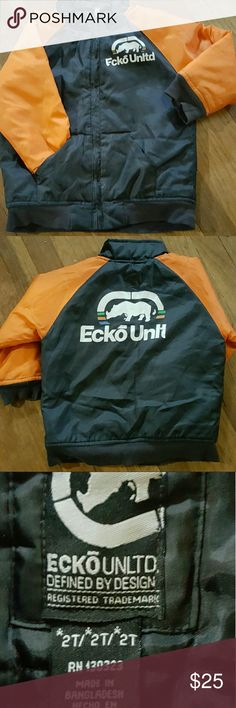 EUC Ecko Unltd insulated jacket EUC Ecko Unltd insulated jacket Has Emblems on front and back of jacket. Great jacket for fall, early winter Only worn a few times  Very warm Ecko Unlimited Jackets & Coats