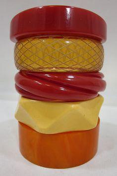 Stack of Bakelite bangles
