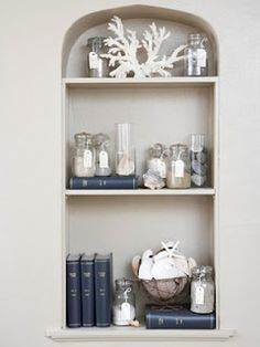 Bookcase Coastal Decor.