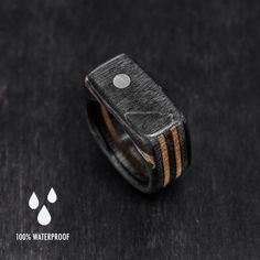 Silver Dot Ring Signet Skateboard Ring Wooden Ring от BoardThing