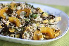 Roasted Delicata Squash & Kale Quinoa