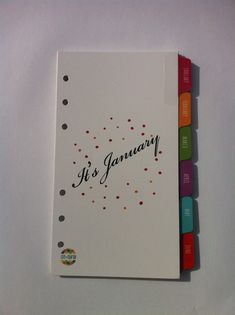 Personal Size Printable January - December Organizer Index Tab Dividers Dotty Design Filofax
