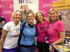 Boston Marathon Expo with Nicole Deboom and Kathrine Switzer