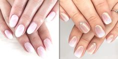 You know how it is that you want nail design fast and sharp.. Faded French Manicure, French Fade Nails, Faded Nails, French Manicures, Pink Manicure, Glitter Gel Nails, Pink Nails, Acrylic Nails, Nails Yellow