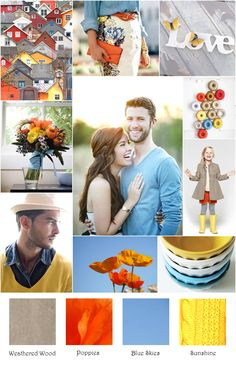 Casual Denim Poppy Sunshine Inspiration Board