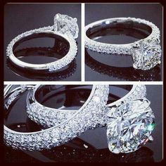 Wedding ring or engagement ~ Princess cut would be even better.