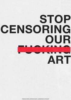 Small piece of work I did in response to a news article. By censoring often the message can be lost.