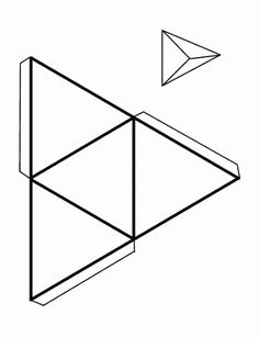 Pin by Maria do Socorro Arts on Aulas artes ideias Op Art, Cube Template, 3d Geometric Shapes, Triangular Prism, Geometry Activities, Printable Shapes, Diy And Crafts, Paper Crafts, Cardboard Sculpture