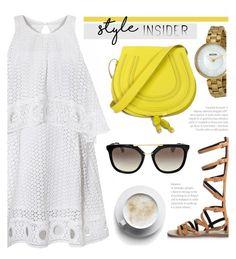 Latte by jomashop on Polyvore featuring polyvore moda style Prada Bulova fashion clothing Summer white yellow