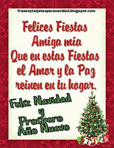 1b4553cad50c8 Una tarjeta muy especial para regalar a nuestras amigas en esta época de  Navidad 2016. Que en estas Fiestas el amor y la paz reinen e.