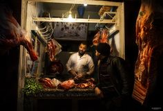 The Medina, in Fes is a melting pot of smells, colors and people. There I found this butcher.The Arabic word 'halal' means permissible, and the rules of slaughter are based on Islamic law and on a specific ritual which has to be performed by a Muslim on an alive and healthy animal.