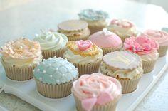 Vintage Luxury Birthday Cupcakes.
