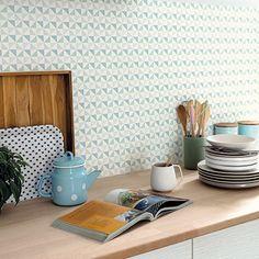 Collection SPACES - Shapes    #wallpaper #papierpeint #decoration #spaces #scandinave #pastel #geometric #kitchen