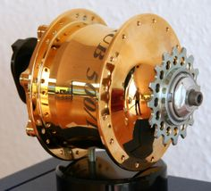Rohloff Speedhub 500-14, 24 carat gold plated SPEEDHUB