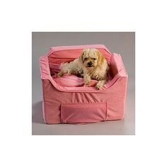 Snoozer Luxury Lookout II Pet Car Seat In Pink Microsuede Features OZipper Removable