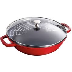Staub 4.5-Quart Perfect Pan (€195) ❤ liked on Polyvore featuring home, kitchen & dining, cookware, staub cookware, dishwasher safe cookware and staub