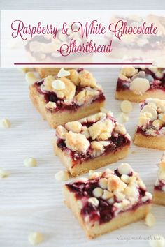 This Raspberry & White Chocolate Shortbread is the perfect combination of juicy raspberries, melt in your mouth shortbread and yummy white chocolate