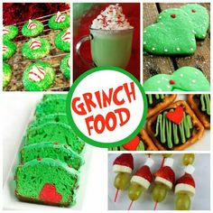 How The Grinch Stole Christmas is one of our favorite holiday stories. Here's 25 Grinch Crafts & Sweet Treats we love, all inspired by the lovable Grinch! Grinch Party, Grinch Snack, Grinch Christmas Party, Christmas Snacks, Xmas Party, Christmas Goodies, Holiday Fun, Christmas Holidays, Christmas Gifts