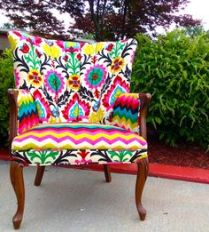 Colorful chair by EmileyMichelle on Etsy, $550.00