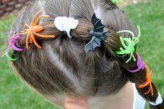 Princess Piggies: Halloween Hairdos: Spider Rings
