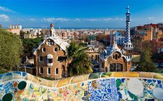Beautiful Barcelona - if you're looking for some eye candy, look no further! This photo is from the famous Gaudi park.