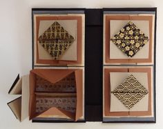 Zheng Xian Bao by Rita McNamara at Salon de Refuse. Showing third level of boxes. Origami Dragon, Origami Fish, Origami Paper, Paper Art, Paper Crafts, Diy Crafts, Concertina Book, Bookbinding Tutorial, Paper Architecture