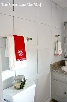 DIY budget bathroom renovation towels