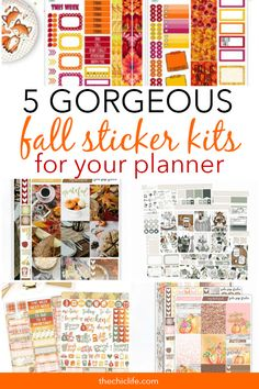 5 Gorgeous Fall Sticker Kits You Need for Your Planner 2018 Calendar Stickers, Love Stickers, Printable Planner Stickers, Scrapbook Stickers, Printables, Cute Planner, Happy Planner, Free Erin Condren, Cool Notebooks