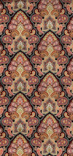 Morriston Foulard Large Paisley I adore this pattern and colors Textile Patterns, Textile Prints, Textile Design, Fabric Design, Print Patterns, Lino Prints, Floral Patterns, Block Prints, Paisley Design