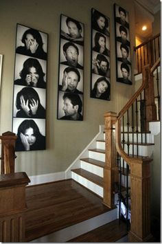 family-pic-wall-  How to make a giant photo booth style picture.
