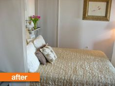 Before & After: Create a 'Bedroom' in a Studio Apartment with Ikea Panels | Apartment Therapy