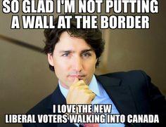 DEMs, blacks, latinos, feminists, muzzies ALL of them! Political Memes, Political Views, Drama Teacher, O Canada, Justin Trudeau, Truth Hurts, Get The Job, Funny Photos