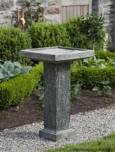 Reef Point | Stone | Pedestal | Birdbath