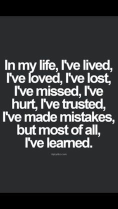 Life & lessons