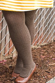 Twisted Pattern Tights