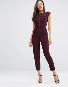 ASOS | ASOS Premium Jumpsuit With Embroidered Panels