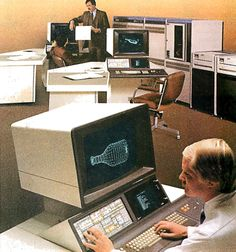Computer Programming, Gaming Computer, Cad System, Retro Arcade Machine, Fish Graphic, Old Technology, Comic Panels, Green Rooms, Computer Hardware