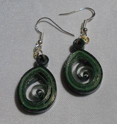 Dark Green Small 1 Teardrops by RheasOriginals on Etsy