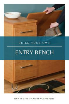 Woodworking Ideas To Sell, Rockler Woodworking, Beginner Woodworking Projects, Woodworking Guide, Custom Woodworking, Woodworking Furniture, Furniture Plans, Entry Bench, Workshop Organization