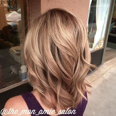 Subtle stretched root dark blonde hair color Hair by: Aly Tompkins Mon Amie Salon Redlands CA