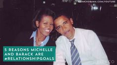 Barack + Michelle Obama are relationship goals.