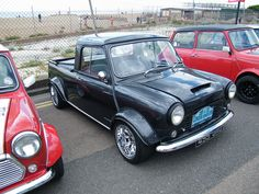 1960s #Mini #Pickup - Does it get cooler than this, honestly? #MINI #Custom #Classic #Style #Cool