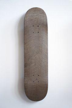 Finger print skateboard deck