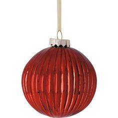 Red Ribbed Glass Bauble at Homebase -- Be inspired and make your house a home. Buy now.