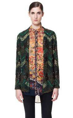 SEQUINNED AND EMBROIDERED CARDIGAN - Blazers - Woman | ZARA United Kingdom
