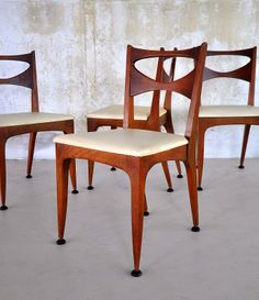 Set Of Six Mid Century Modern Dining Room Chairs By Drexel W 2 Captains