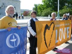 Unitarian Universalists from Arlington, VA and Baltimore, MD outside the U.S. Supreme Court