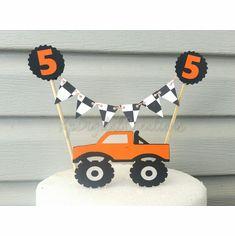 Monster Truck Birthday Cake Topper Decoration Baby Shower Birthday Banners, Birthday Cake Toppers, Monster Truck Birthday Cake, All Themes, Adult Birthday Party, Reveal Parties, Baby Shower Cakes, Baby Shower Decorations, First Birthdays